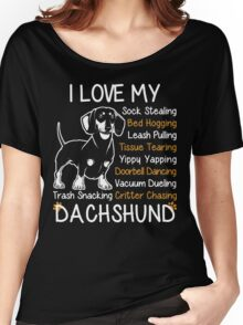 i love my dachshund Women's Relaxed Fit T-Shirt