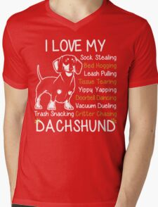 i love my dachshund Mens V-Neck T-Shirt