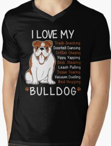 i love bulldog Mens V-Neck T-Shirt