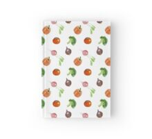 Watercolor vegetables party Hardcover Journal