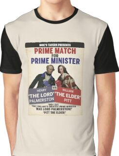 Prime Match for Prime Minister - Lord Palmerston vs. Pitt the Elder Graphic T-Shirt