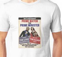 Prime Match for Prime Minister - Lord Palmerston vs. Pitt the Elder Unisex T-Shirt