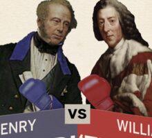 Prime Match for Prime Minister - Lord Palmerston vs. Pitt the Elder Sticker