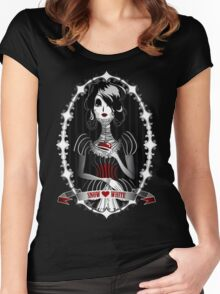 Gothic Snow White Women's Fitted Scoop T-Shirt