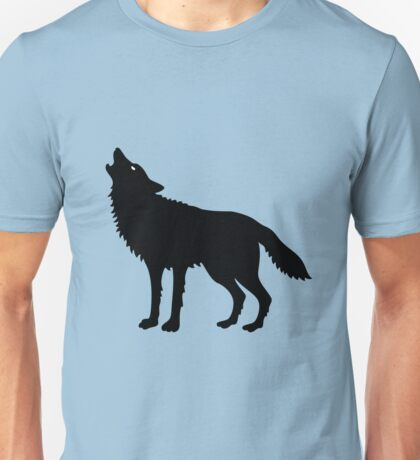 Howling Wolf (Silhouette) Unisex T-Shirt