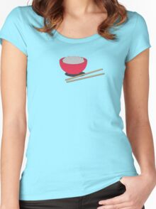 Asian rice  Women's Fitted Scoop T-Shirt