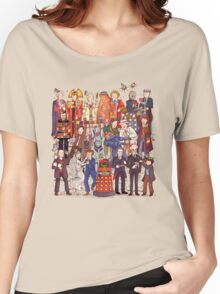 The party doesn't start until the Doctor walks in...twelve times Women's Relaxed Fit T-Shirt