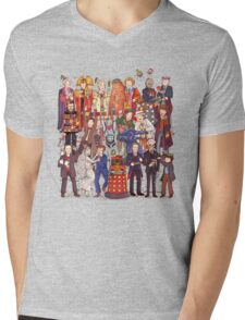 The party doesn't start until the Doctor walks in...twelve times Mens V-Neck T-Shirt