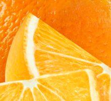 Fresh cut oranges Sticker