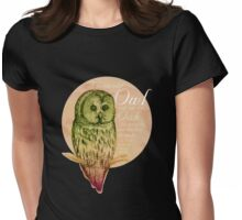 Wise Owl on the Oak Womens Fitted T-Shirt