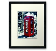 The Red Booth  Framed Print