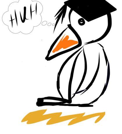 Penguin graduation Sticker