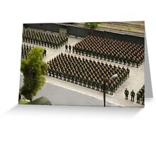 Special Forces parade ground Greeting Card