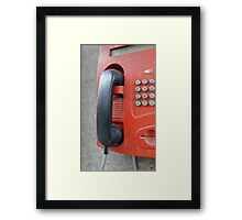 street payphone Framed Print