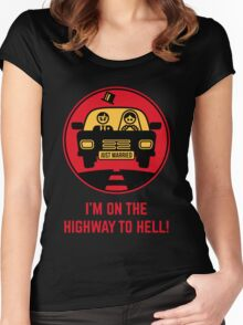 Just Married – I'm On The Highway To Hell (3C) Women's Fitted Scoop T-Shirt