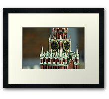 golden chimes in the tower Framed Print