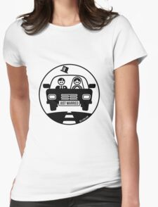 Just Married – Honeymoon (1C) Womens Fitted T-Shirt