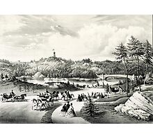 Central Park, the lake - 1862 - Currier & Ives Photographic Print