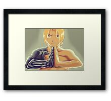 Fullmetal Awesomeness (Digital Painting of Edward Elric from the Manga/Anime Fullmetal Alchemist)  Framed Print