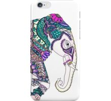 Boho bright watercolor tribal henna elephant iPhone Case/Skin