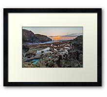 Sunrise over the Rockpools Framed Print