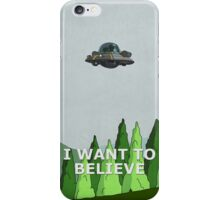 Rick and Morty - I Want To Believe iPhone Case/Skin