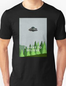Rick and Morty - I Want To Believe Unisex T-Shirt