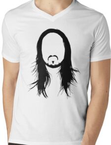 Steve Aoki Face Mens V-Neck T-Shirt