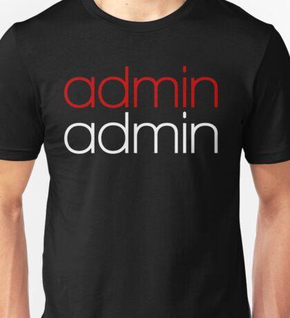 Admin Unisex T-Shirt