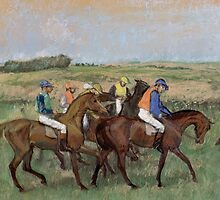 Edgar Degas - At the races (ca. 1885) by famousartworks