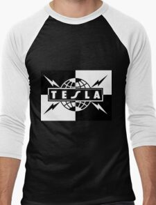 tesla band tour dates logo  Men's Baseball ¾ T-Shirt
