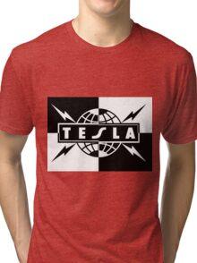 tesla band tour dates logo  Tri-blend T-Shirt