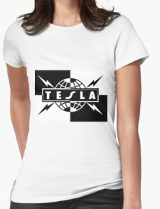 tesla band tour dates logo  Womens Fitted T-Shirt