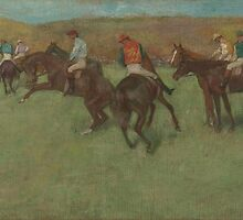 Edgar Degas - At the Races Before the Start (1875 - 1885) by famousartworks