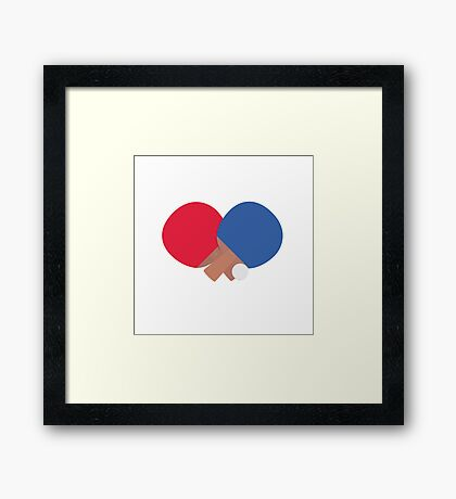 table tennis bat and ball  Framed Print