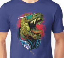 Tyrannosaurus Rex Chillin' With Headphones Unisex T-Shirt