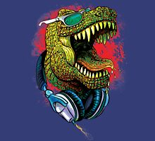 Tyrannosaurus Rex Chillin' With Headphones Unisex T-Shirt