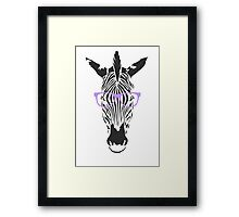 Geeky Zebra Framed Print