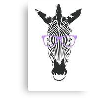 Geeky Zebra Canvas Print