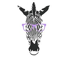 Geeky Zebra Photographic Print