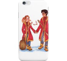 Quidditch Harry and Ginny iPhone Case/Skin