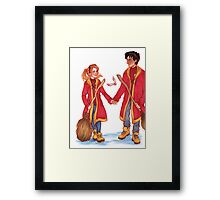 Quidditch Harry and Ginny Framed Print