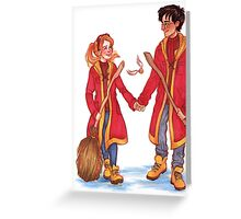 Quidditch Harry and Ginny Greeting Card