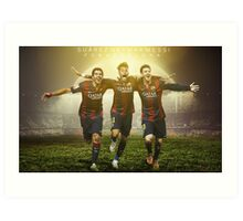 Messi, Suárez and Neymar Art Print