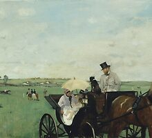 Edgar Degas - At the Races in the Countryside (1869) by famousartworks