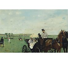 Edgar Degas - At the Races in the Countryside (1869)  Impressionism Photographic Print