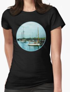Boats on a Calm Sea Womens Fitted T-Shirt