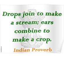 Drops Join - Indian Proverb Poster