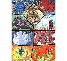 Fan art Jinjuriki and the tailed beast Photographic Print