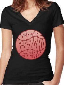 Sir Psycho Sexy Women's Fitted V-Neck T-Shirt